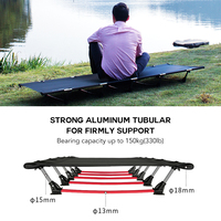 Outdoor Folding Bed Portable Foldable Camping Cot Single Person 330LB Bearing Weight Compact for Outdoor Hiking Camping