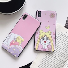 Funny Cute Cartoon  Sailor Moon Pretty Girl Phone Case For huawei mate20 Pro X P30 p20 pro p30 20 lite honor 10 tpu