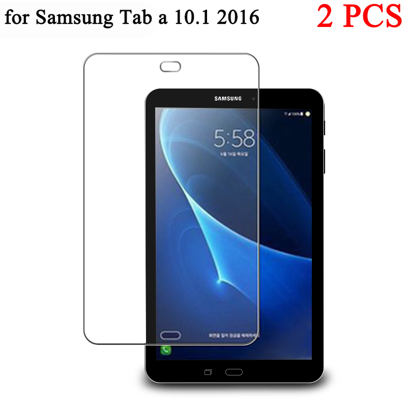 """2pcs/ lot 10.1"""" Explosion Proof Screen Protector Tempered Glass For Samsung Galaxy Tab A 10.1 2016 T580 SM T585