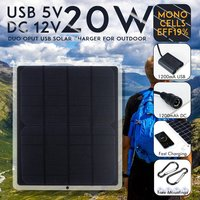 Flexibele zonnepaneel 20w panelen zonnecellen mobiele module DC voor auto jacht licht RV 12v batterij boot 5v outdoor oplader