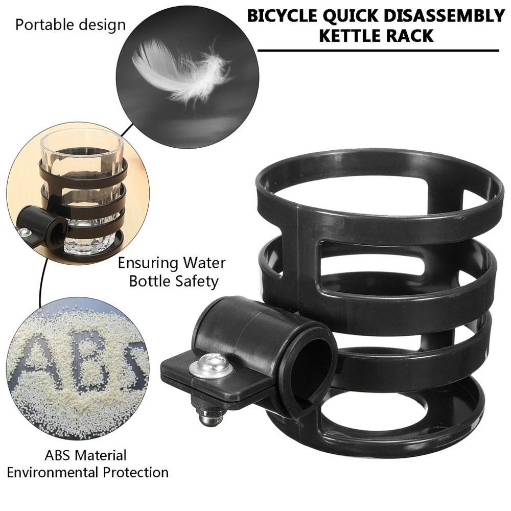 ABS Bicycle bike Motorcycle bottle Cup Holder Handlebar Clamp Mount Travel Mug