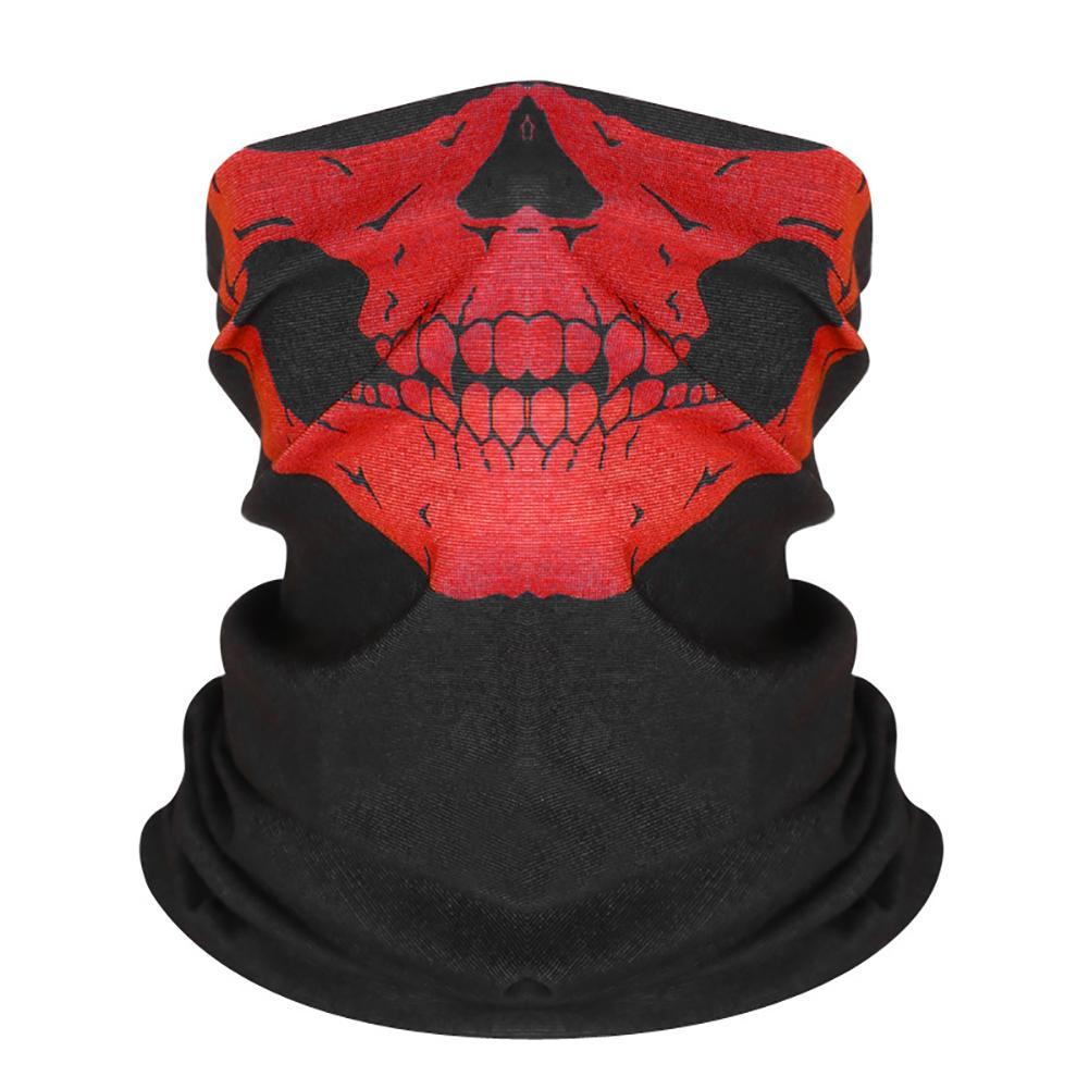 8PCS Schädel Gesicht Maske 3D Nahtlose Magie Schal Neck Gesicht Maske Balaclava Maske Motorrad Dehnbar Für Festivals Und Sport
