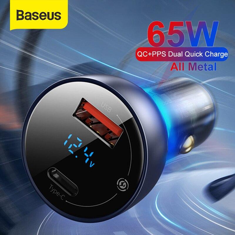 Baseus 65 Вт PPS автомобильное зарядное устройство PD QC двойная Быстрая  зарядка для ноутбука полупрозрачная Металлическая Автомобильная Зарядка для  телефона iPhone Samsung - купить недорого в интернет-магазине с доставкой:  сравнение цен, характеристики,