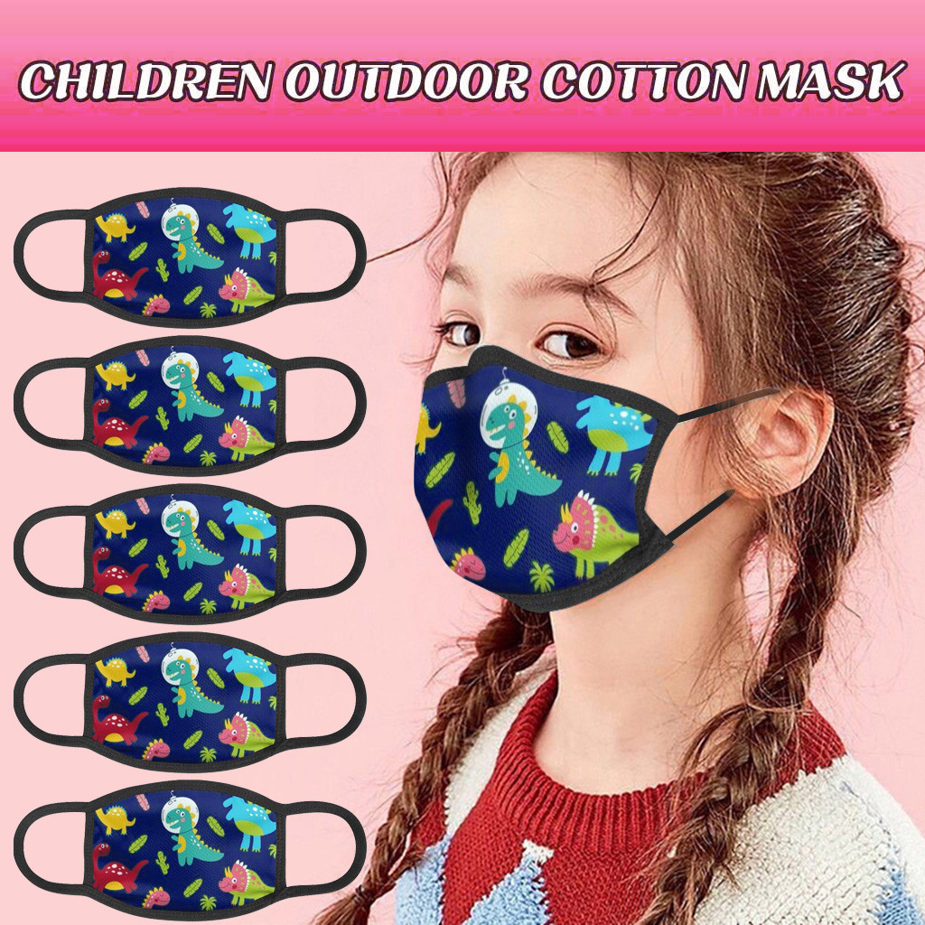 Child Fashion Printing Dustproof Windproof Fog Haze Mask Washable Reusable Mask Costumes Cosplay Accessories masque Mascarill