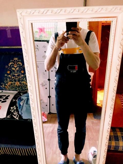 Mens Black Cargo Pants Letter Printed Bib Overalls Casual Straight Long Bib Suspender Trousers Men Fashion Work Jumpsuits XXL 6