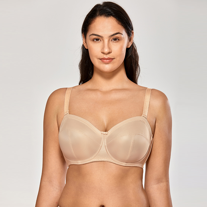 Women's Underwire Soft Cup Ultra Support Convertible Strapless Bra