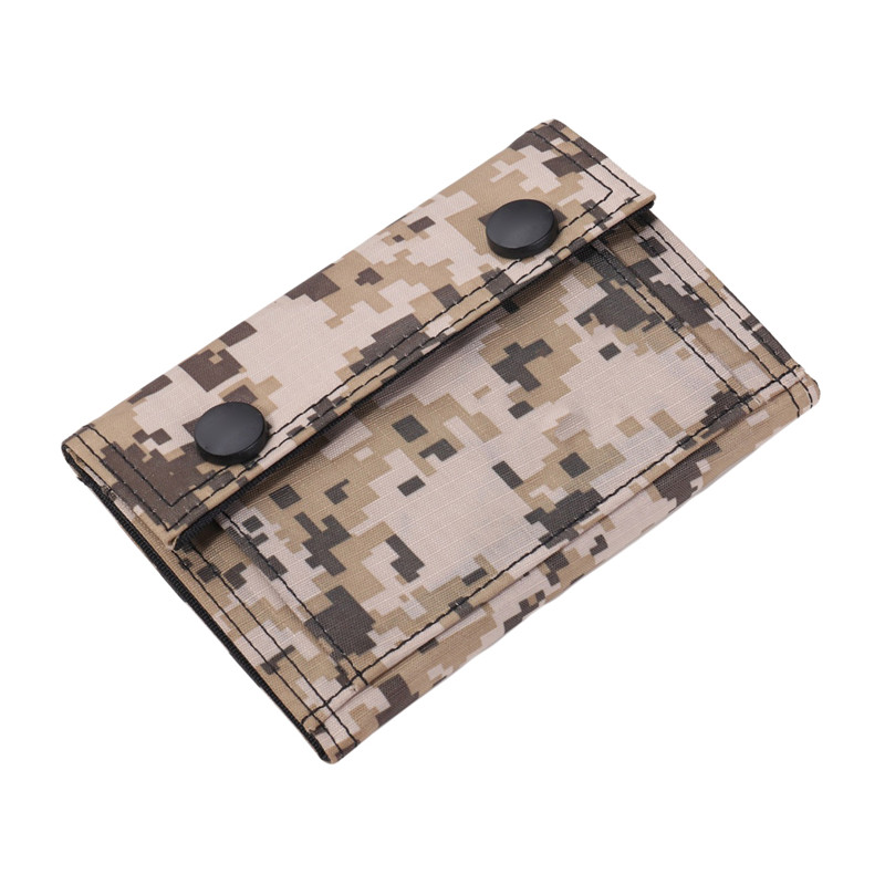 Men's Canvas Clutch Wallet ID Bifold Camouflage Credit Card Holder Retro Coin Purse Card Pouch Bag Mesh Change Pocket