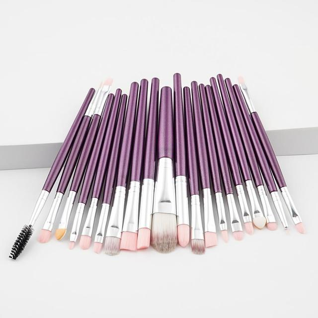Fashion Luxury 20PCS Makeup Brushes Kit Foundation Powder Blush Eyeshadow Concealer Lip Eye Make Up Brush Cosmetics Beauty Tools 5