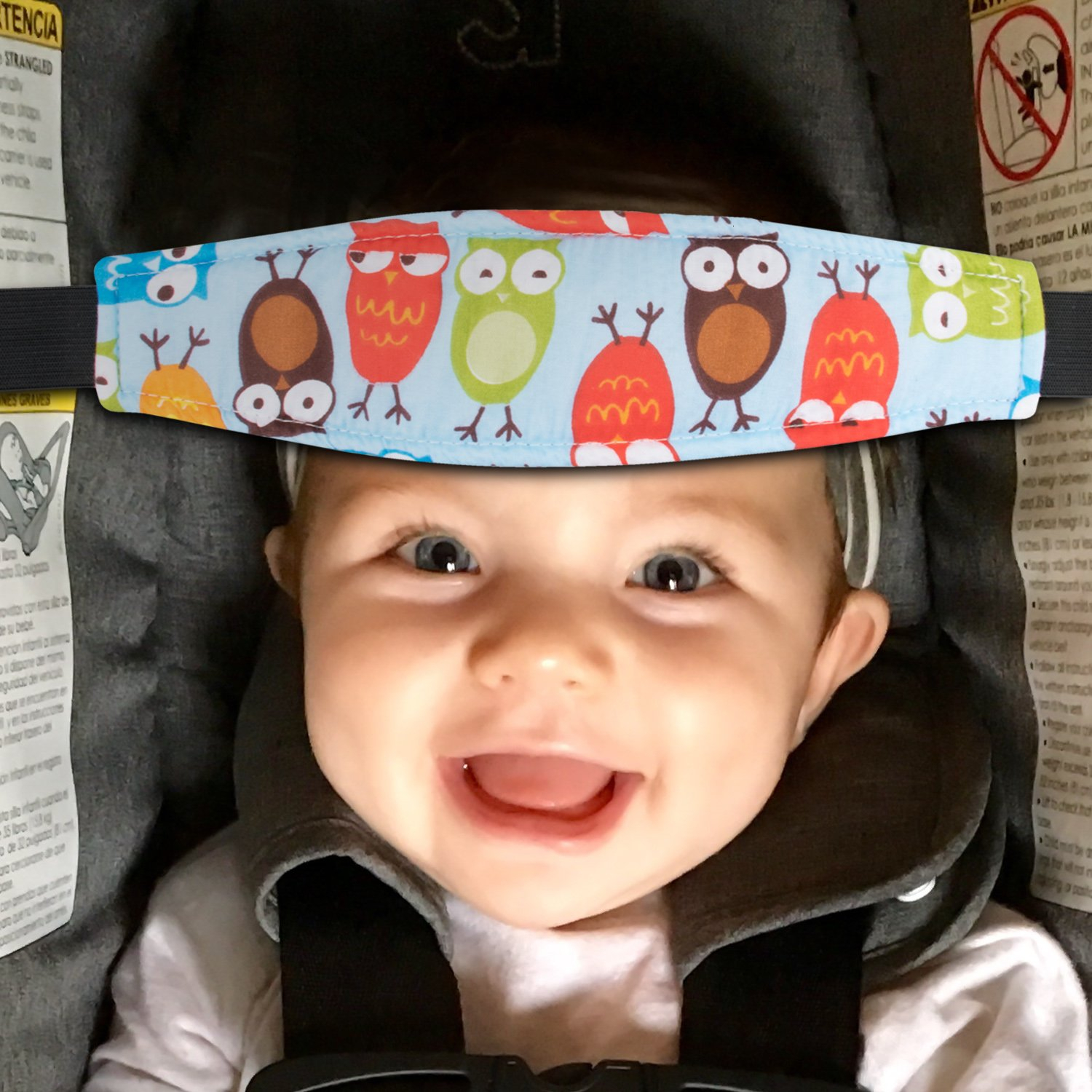 1pc Kids Baby Head Support Holder Adjustable Sleep Belt For Baby Cars Seat Nap Aid Band Print Baby Car Seat Accessories