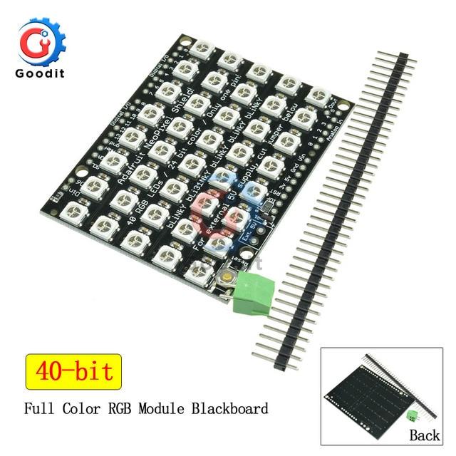 40 Bit WS2812 5050 RGB LED Rectangle Board