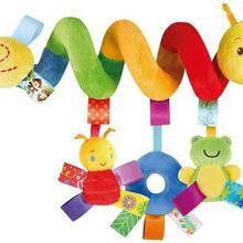 Спиральный животных подвесная игрушка для коляски кровать детская