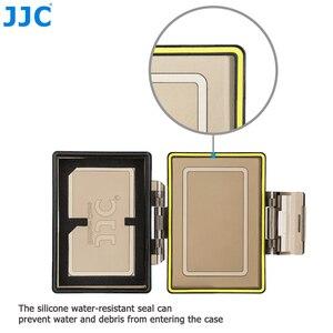 Image 3 - Sacchetto della cassa del supporto della batteria della macchina fotografica di JJC per la LP E6 di Canon LP E6N LP E17 scatola di immagazzinaggio della carta di memoria standard MSD TF di Sony NP FW50 Fujifilm