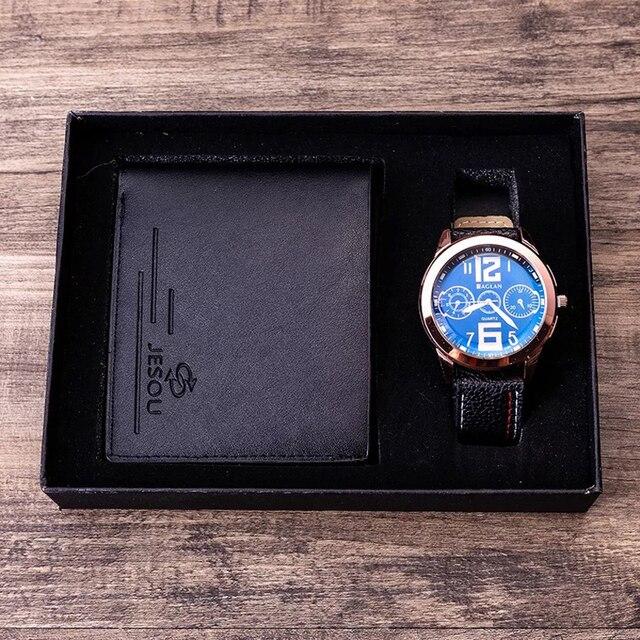Men Watches Leather Belt Quartz Wrist Watch  2