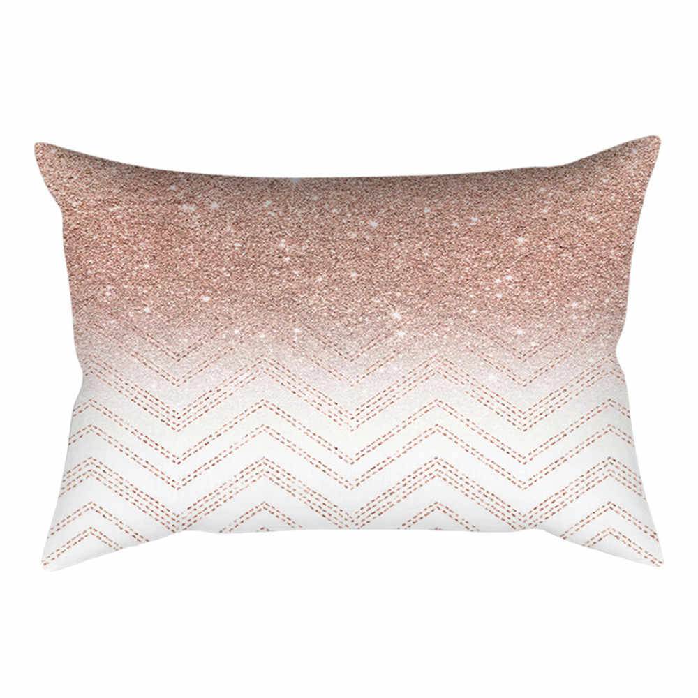 Pillowcases Cushions Cover Linen Pillow Cases Home Retro Rose Gold Pink Square Pillowcase Home Decoration Warm