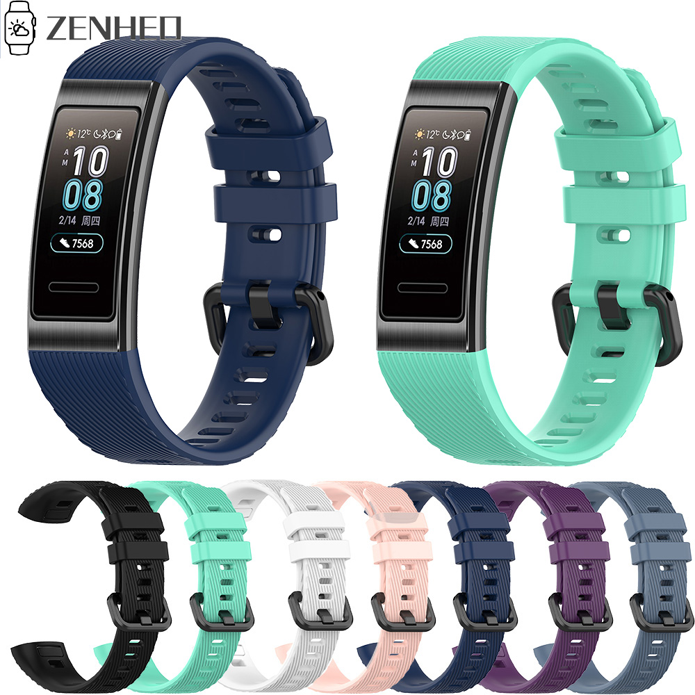 Silicone Wrist Strap For Huawei Band 4 Pro TER-B29S Watchband Bracelet For Huawei Band 3 Pro TER-B29/Band 3 TER-B09 Belt