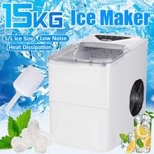 2l portátil automático elétrico máquina de fazer gelo bala bloco redondo cubo de gelo que faz a máquina escritório em casa pequena barra café 15kgs/24 h