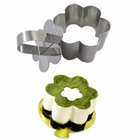 Retractable Stainless Steel Circle Mousse Ring Baking Tool Set Cake Mold Size Adjustable Dessert cake decorating tools