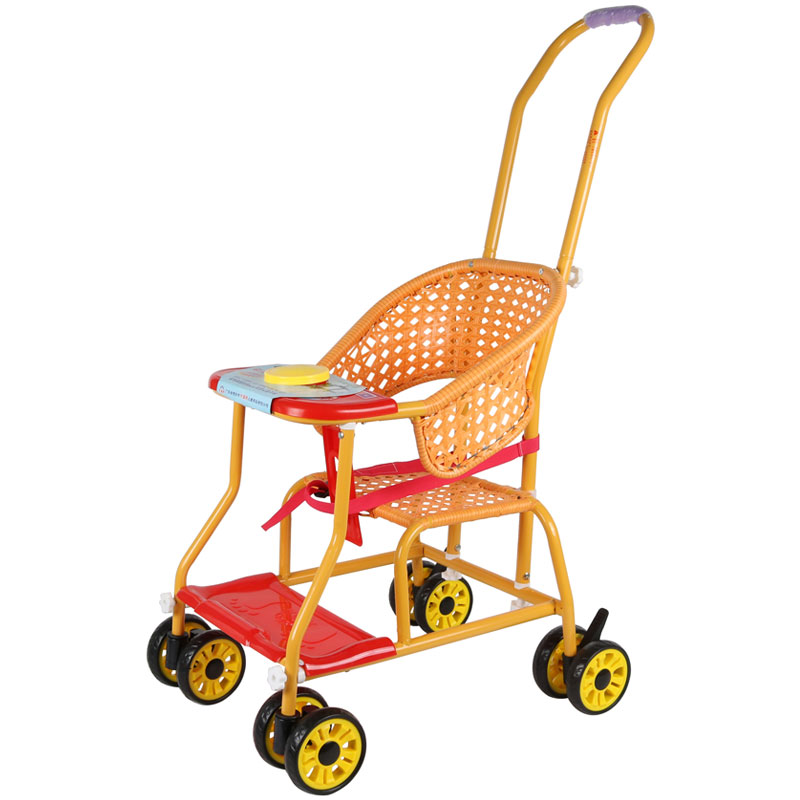 Rattan Stroller Light And Simple Universal Wheel Baby Stroller Imitation Bamboo And Rattan BB Car Breathable Children Stroller
