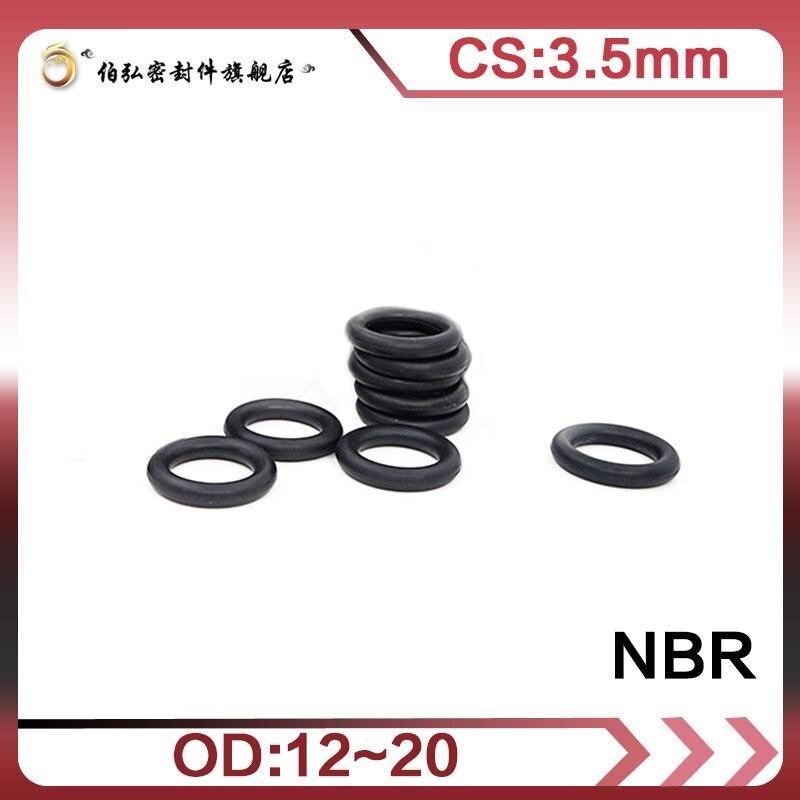 Уплотнительное кольцо из нитриловой резины 50 шт./лот NBR, уплотнительное кольцо CS 3,5 мм OD12/13/14/15/16/17/18/19/20 мм, уплотнительное кольцо, уплотнитель...