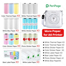 Peripage A6 Paper 58mm Label Sticker Notes Color Photo Printer Paper Labels Peripage A6 Printers Papers roll Color Sticker Paper