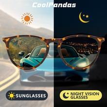 2020 Photochromic Polarized Sunglasses Women Round Sun Glasses Men Vintage Goggle UV400 Day Night Vision lunette de soleil femme
