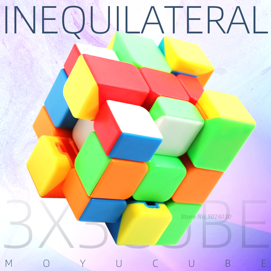 Moyu Cube Inequilateral Mirror Cube Stickerless Magic Cube Speed Puzzle Mirror Rianbow Competition Toys For Children Kids