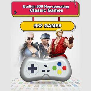 Image 5 - 2 لاعبين 1080P اللاسلكية التلفزيون لعبة فيديو وحدة التحكم مع 638 ألعاب صغيرة مزدوجة غمبد