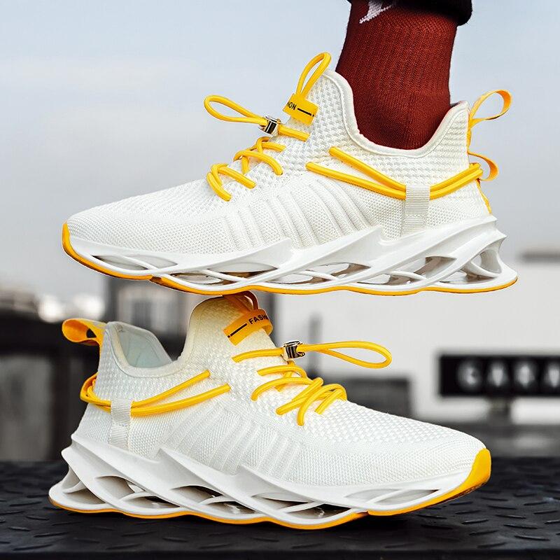 รองเท้าสบายๆสำหรับชายแฟชั่นแสงตาข่าย Breathable รองเท้ากีฬาวิ่งรองเท้า Zapatos De Hombre รองเท้าผ้าใบ PLUS ขนา...