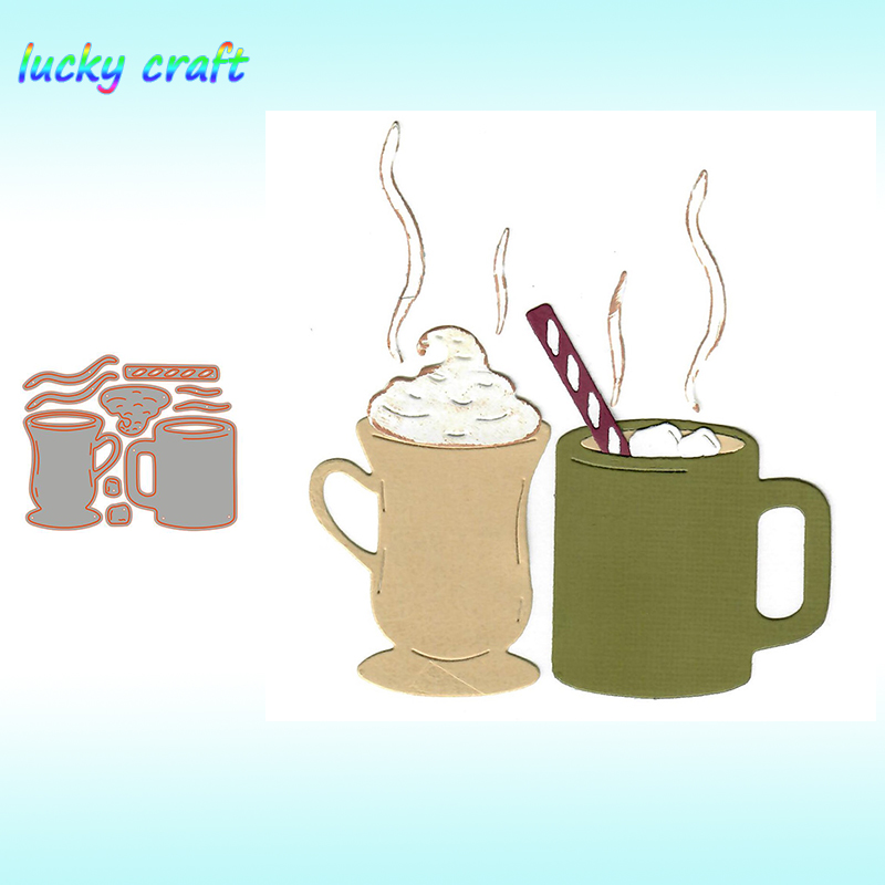 Coffee Cup Metal Cutting Dies For DIY Scrapbooking Embossing Paper Card Album Decoration Crafts Dies Cut 2019