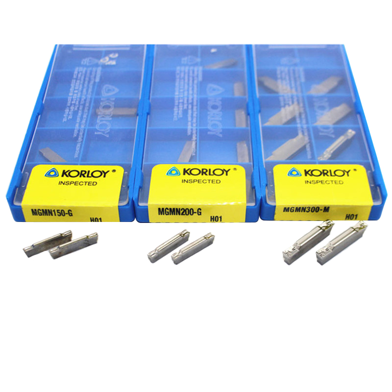 MGMN150 MGMN200 MGMN300 MGMN400 H01 10pcs 1.5mm 2.0mm 3.0mm Aluminum Grooving Blade Carbide Insert CNC Lathe Tool MGEHR
