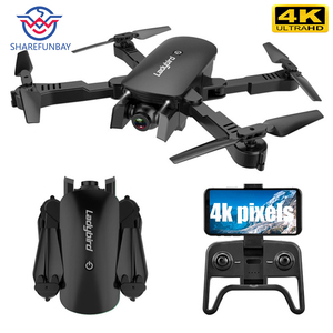 Image 1 - R8 drone 4K HD aerial camera quadcopter optical flow hover smart follow dual camera remote control helicopter with camera