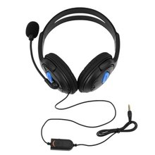 цена на Earphone for Sony PS4 1PC Stereo Wired Gaming Headset Headphones with Mic for PlayStation 4 Gamer