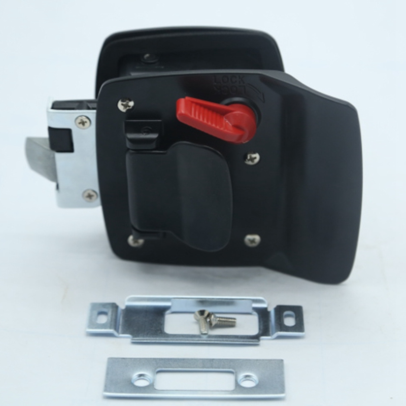 New Black RV Paddle Entry Door Lock-10