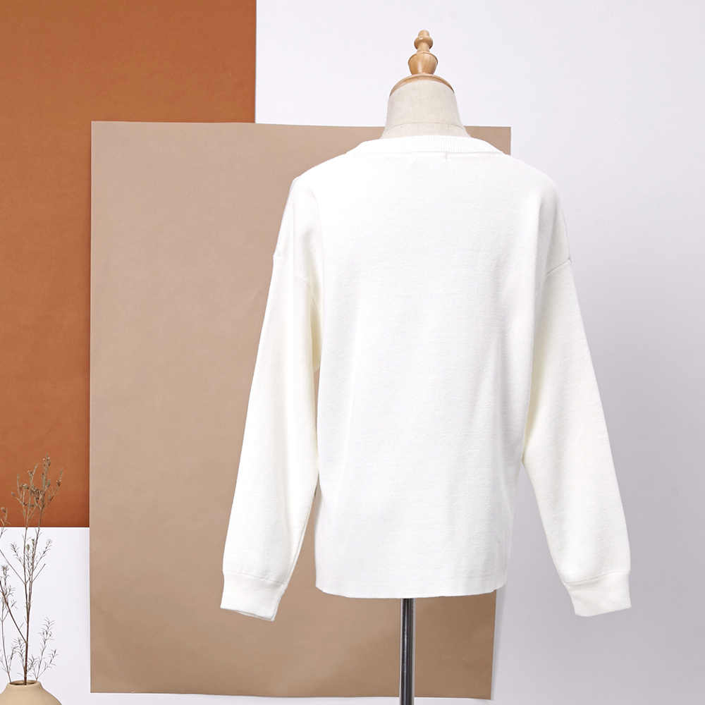 Metersbonwe 니트 스웨터 여성 풀오버 O 넥 봄 기본 여성 솔리드 컬러 스웨터 한국 스타일 루즈 피트 와일드 스웨터