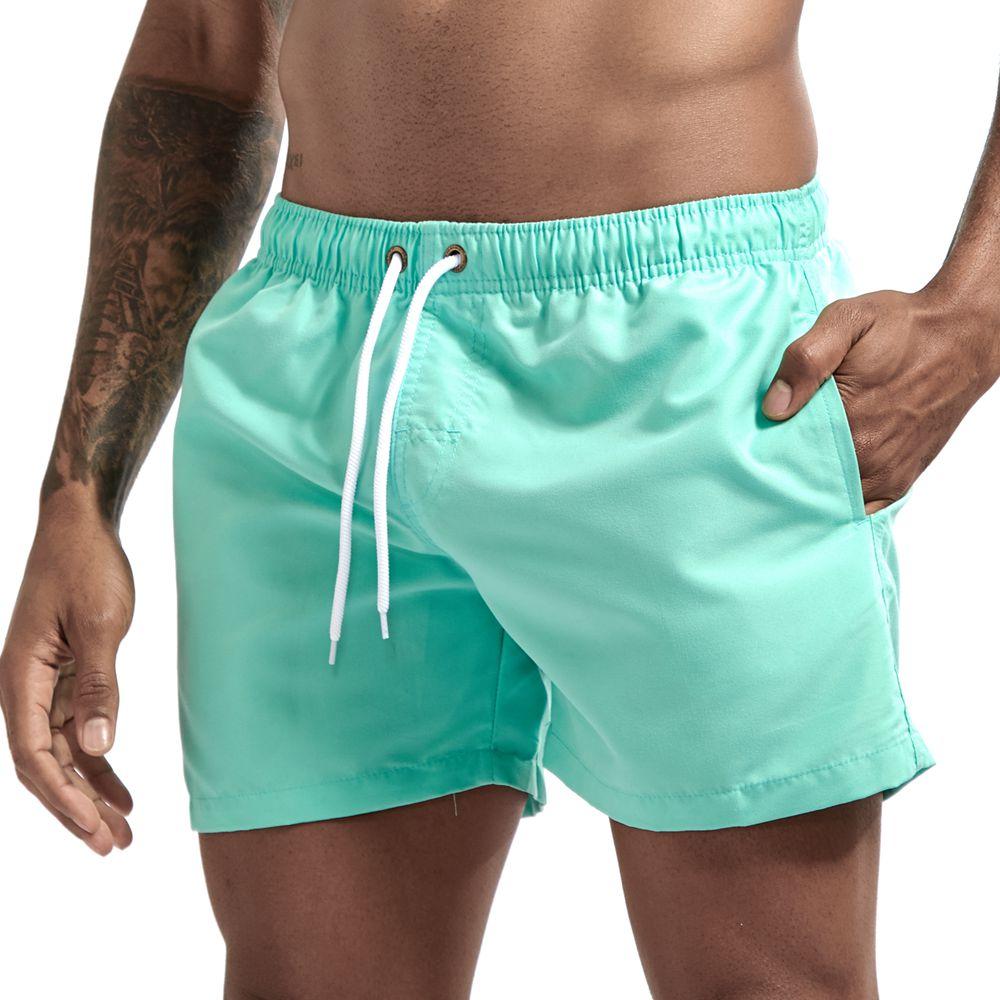 Pocket Swimming Shorts For Men Swimwear Man Swimsuit Swim Trunks Summer Bathing Beach Wear Surf  beach Short board pants Boxer 5