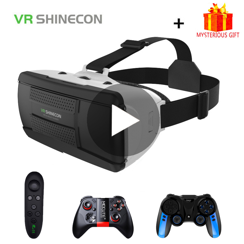 VR Shinecon G06B 3D Glasses Virtual Reality For iPhone Android Smartphone Smart Phone Gaming Goggles Casque Mobile Lenses Games