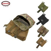 CQC Tactical Molle Folding Dump Pouch Drop Magazine Airsoft Paintball Military Outdoor Hunting Tool Foldable Recovery Mag Nylon