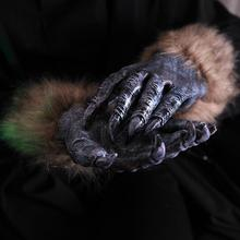 Hairy Werewolf Wolf Monster Hands Cosplay Gloves Claws Paws Halloween Fancy Dress