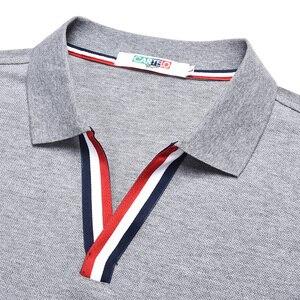 Image 5 - DZYS 2018 Mens Con Scollo A V Camicia di Polo Camicia di Modo per Gli Uomini di Sesso Maschile 3021