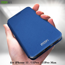 MOFi Funda de cuero para iPhone 11 Pro Max 11Pro Max, cubierta abatible iP 11, carcasa de TPU PU, soporte de libro, Folio