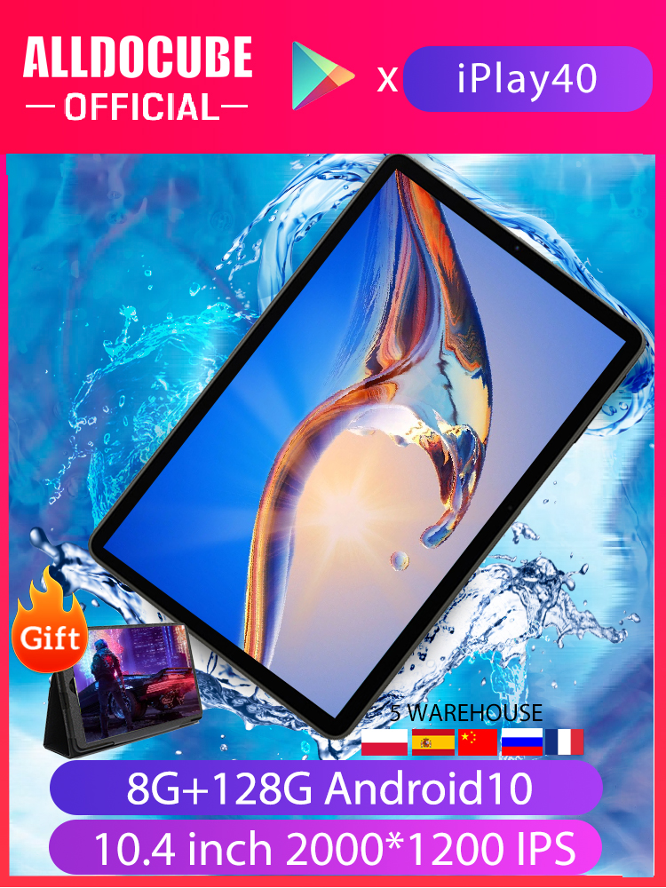 Tablet PC Unisoc T618 Octa-Core Alldocube Iplay40 LTE Android 10 5G 4G Wifi 128GB Type-C