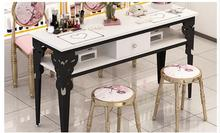 Manicure table simple modern double table and chair suit single small simple manicure table double deck special price economic