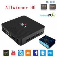 Vmade Android 9.0 TV Box WIFI Allwinner H6 Quad Core 2GB 16GB H.265 4K Google TV Netflix IPTV Media Player Mini Set Top Box