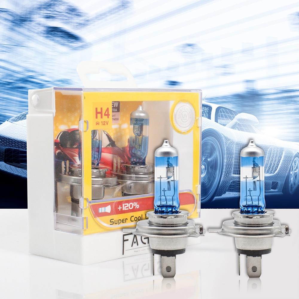 2x Halogen Bulbs Xencn H4 100//90w P43t 12v 5300k Xenon Effect