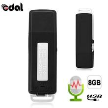 EDAL 2 в 1 Мини 8 Гб USB ручка флеш-накопитель цифровой Аудио Диктофон 70 часов портативный мини Запись Диктофон