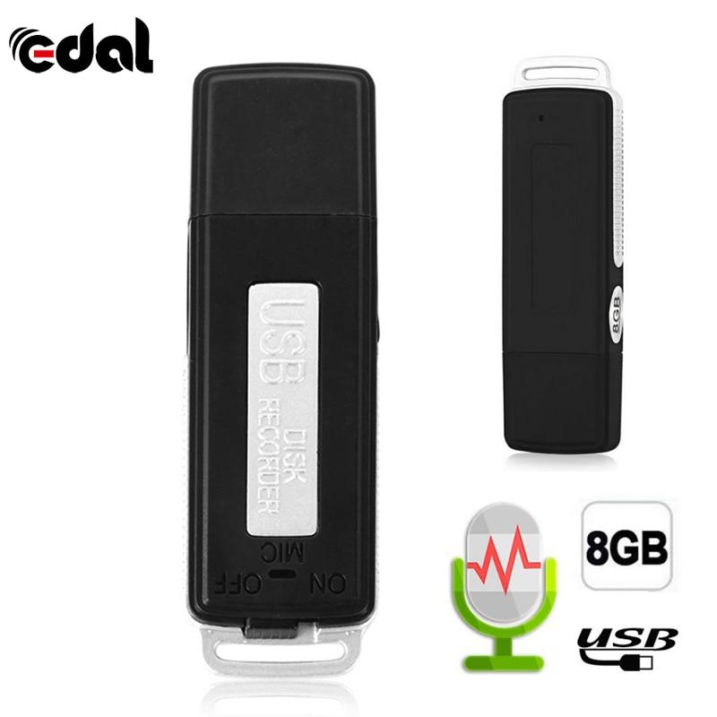 EDAL 2 in 1 Mini 8GB USB Pen Flash Drive Disk Digital Audio Voice Recorder 70 Hours Portable Mini Recording Dictaphone