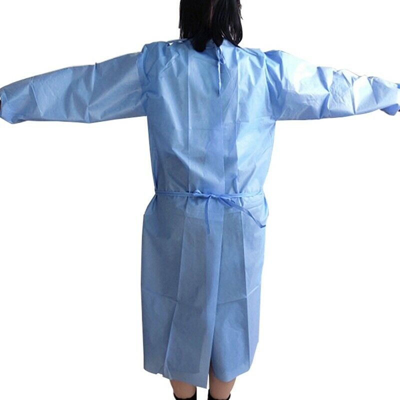 New Disposable Doctor Surgical Gown Long Sleeves Waterproof Protective Clothes Non-woven Fabric Surgical Supplies