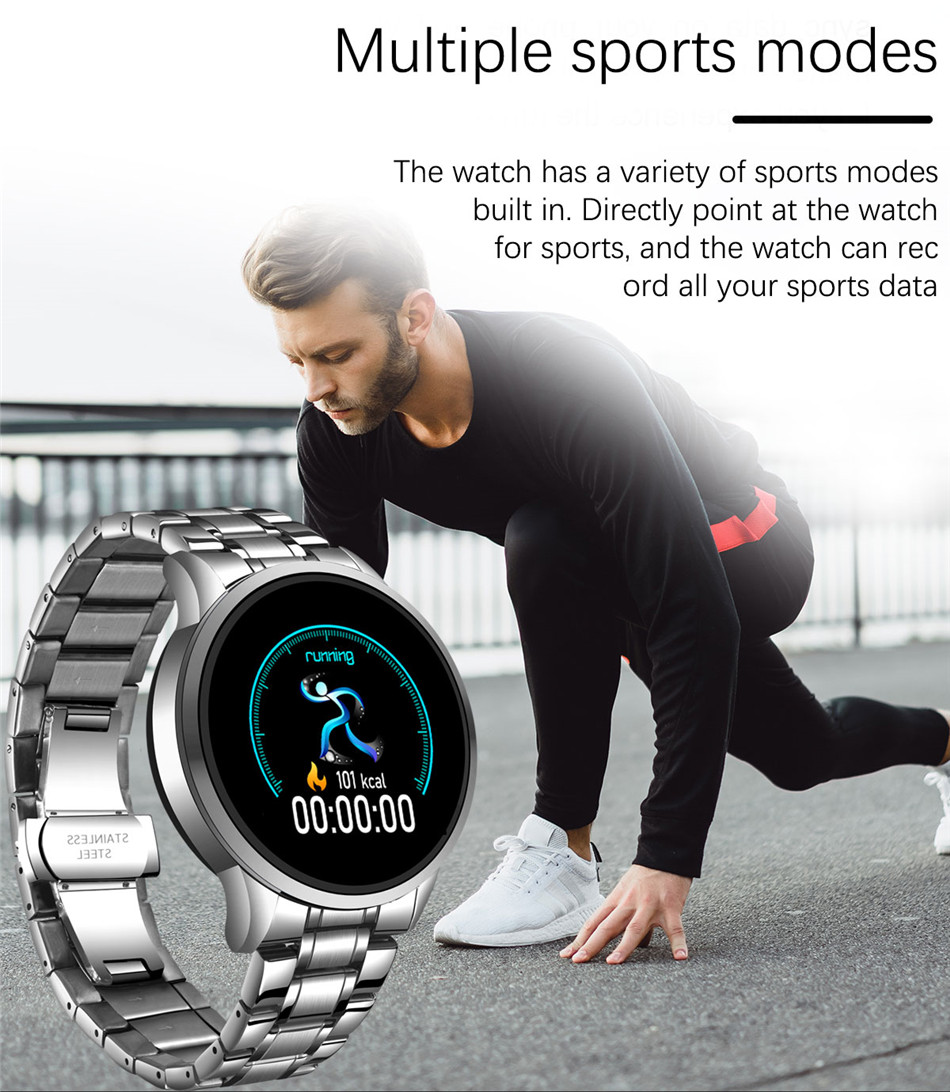 Ha17b0c7aed9a4b09ac4fdfd9c814aa722 LIGE 2020 New Smart Watch Men Heart Rate Blood Pressure Information Reminder Sport Waterproof Smart Watch for Android IOS Phone