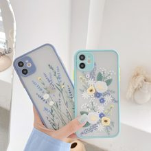 Funda de lujo de flores para iPhone 11 Pro Max X XR XS Max 7 8 Plus 3D relieve Floral transparente suave TPU(China)