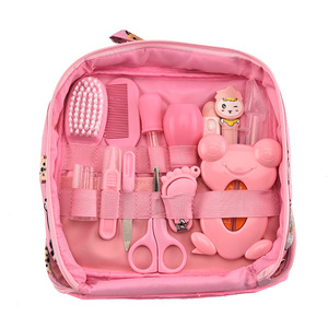 Image 4 - 13Pcs/set Baby Health Care Set Kids Grooming Kit Multifunction Infant Nail Hair Health Care Thermometer Brush Baby Care Tool
